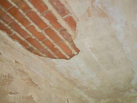 damaged: Damaged ceiling - renovation houses