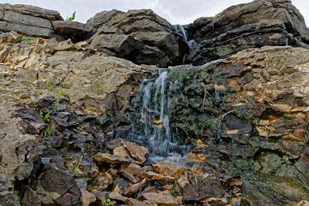 spillway: Lake MacBride Waterfall Stock Photo