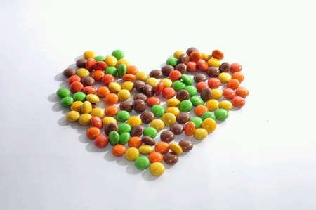 glow: Sweet taste of candy like a love Stock Photo