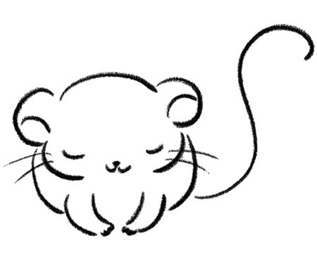 Cute mouse bowing 일러스트