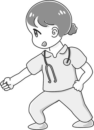 A refreshed nurse is excited