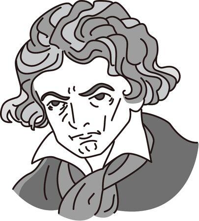 Cartoon caricature of musician