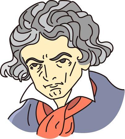 Cartoon caricature of musician 写真素材 - 134328975