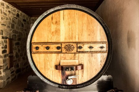 AN ANCIANT OLD BARREL USED FOR VINE SINCE LONG TIME AGO