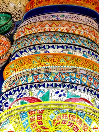 colorful pottery from Prague