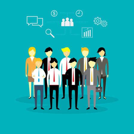 business men and women illustration