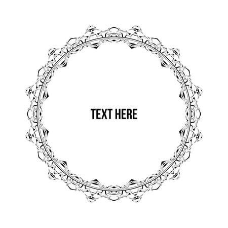 marcos redondos: Ornamento del círculo Elemento Vectores