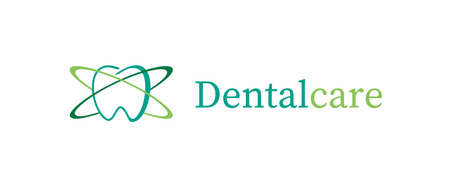 Dental care icon illustration