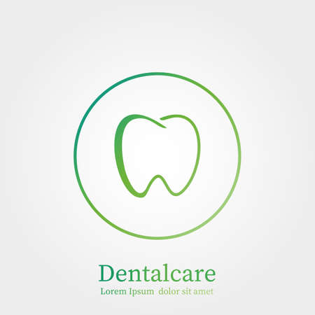 Dental care logo illustration 矢量图像