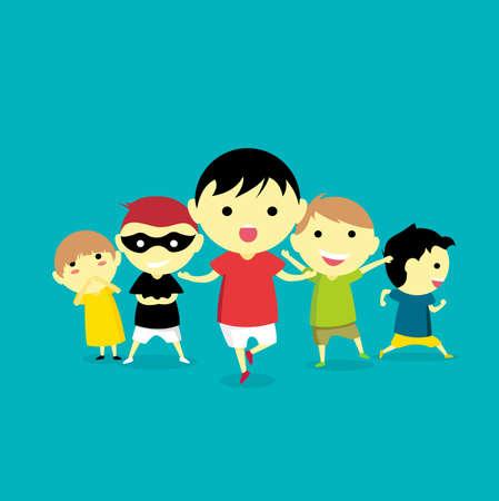 Cute Kids Illustration Illustration