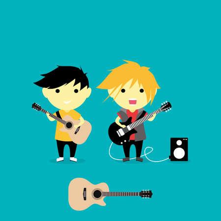 Little Children Play Guitar