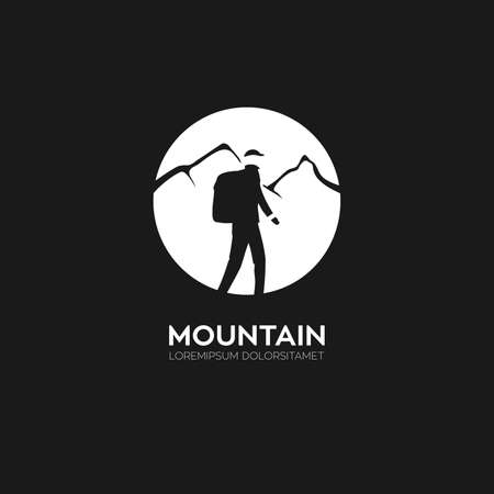 Illustration company logo for travel and another