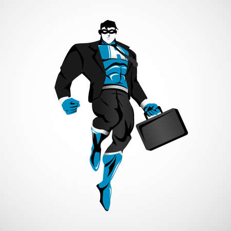 Businessman Superhero Illustration 矢量图像