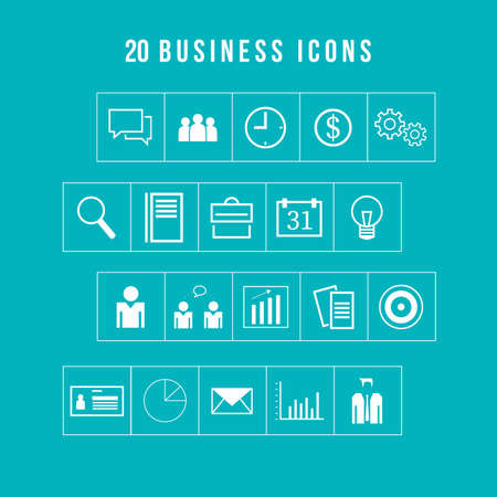 Bedrijven iconen set voor Design en Web Stock Illustratie
