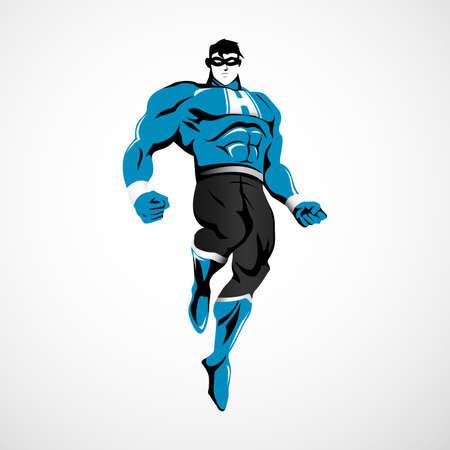 Superhero Illustration Illustration