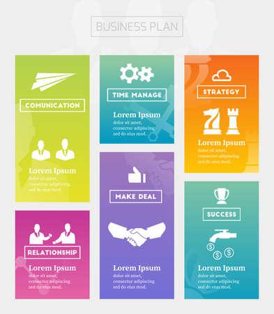 Business-Plan und Strategie Standard-Bild - 44770681