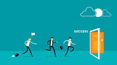 Run for Success businessman v2