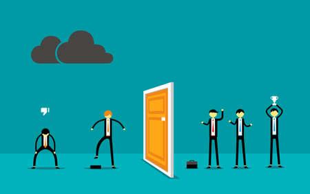 Get Success for Businessman vector illustration