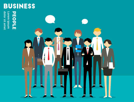business banner: Business People Illustration
