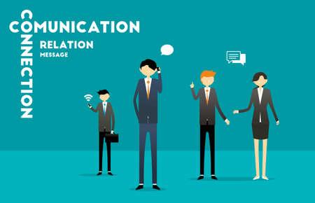 comunication: Business People Comunication Illustration