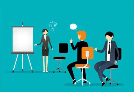 Zakelijke presentatie Vector illustratie