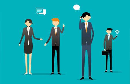 Business Communication Illustratie