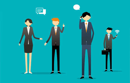 Business Communication Illustration