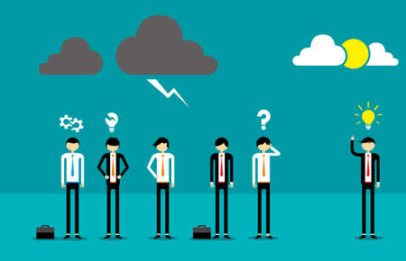 meeting business: Business And Cloud Illustration