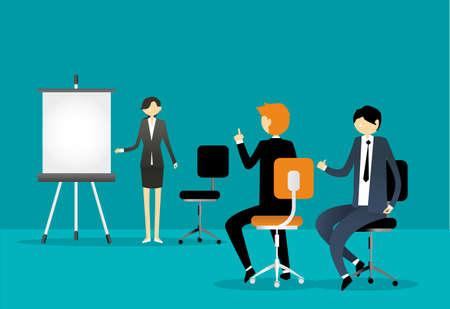 lady clock: Business Presentation Illustration Illustration