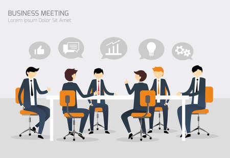 사업: 비즈니스 회의 일러스트