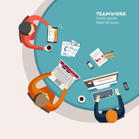 Teamwork on Top View