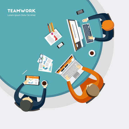 Teamwork Illustrartion