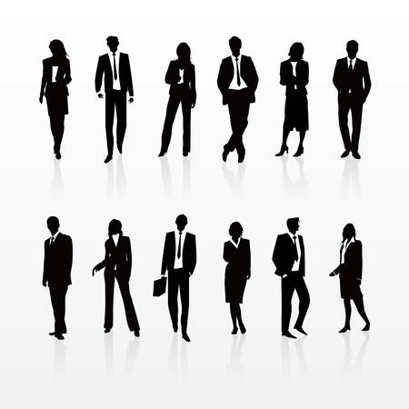 young: Business Silhouettes