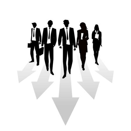 Business Silhouettes arrow