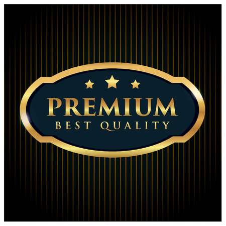 gold premium best quality vector badge for business