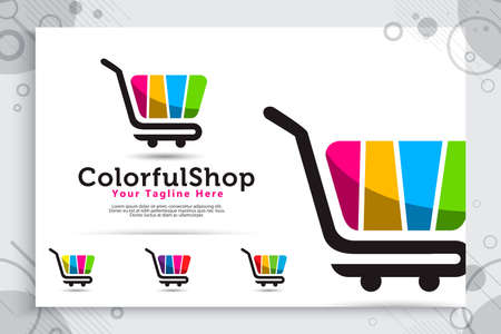 abstract trolling vector logo with simple and modern concept designs , illustration of trolling as a symbol icon of online shop digital template