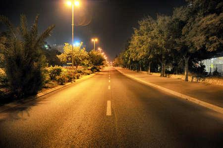 Empty Street in Israel