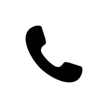 Call icon isolated on white background. Phone icon vector. mobile phone. telephone icon Ilustración de vector