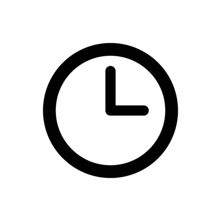 Clock icon isolated on white background. Time icon vector. Clock vector icon Векторная Иллюстрация