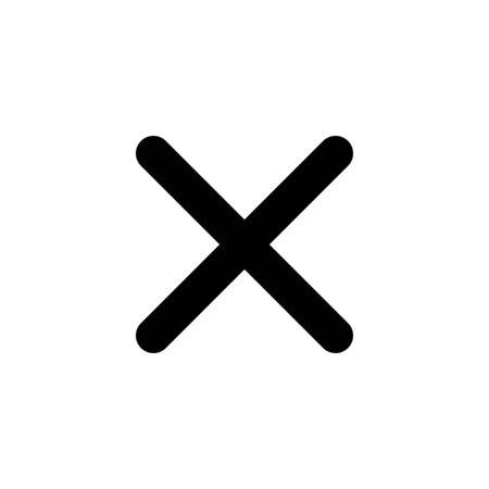 Close icon isolated on white background. Delete icon. remove, cancel, exit symbol
