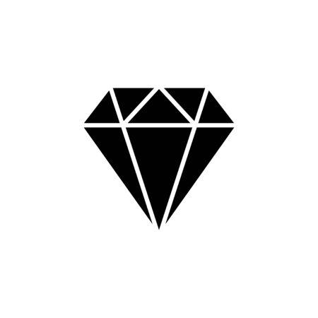 Diamond icon isolated on white background. Diamond vector icon. Gemstone symbol Ilustración de vector