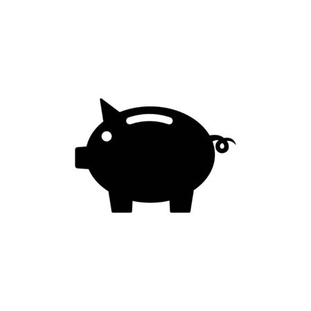 Piggy bank icon isolated on white background. Piggy bank vector icon. Dollar icon Vectores