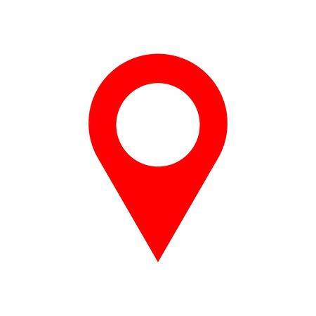 Pin icon isolated on white background. Location icon. Map pointer icon. Point. Locator. Address