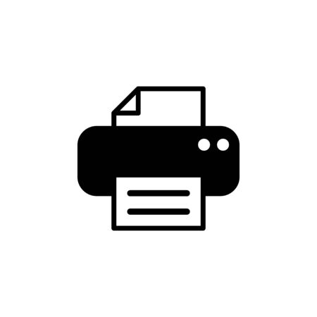 Printer icon isolated on white background. print icon. Printer vector icon Vectores