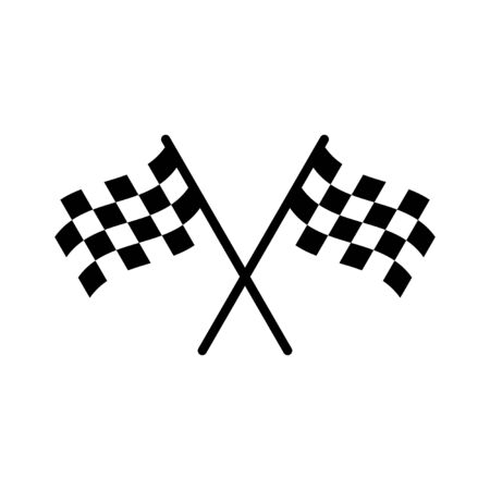 Start icon isolated on white background. Race flag icon. Competition sport flag line vector icon. Racing flag. Start finish flag
