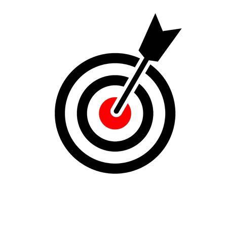 Target icon isolated on white background. Target vector icon. goal icon. marketing target. Aim