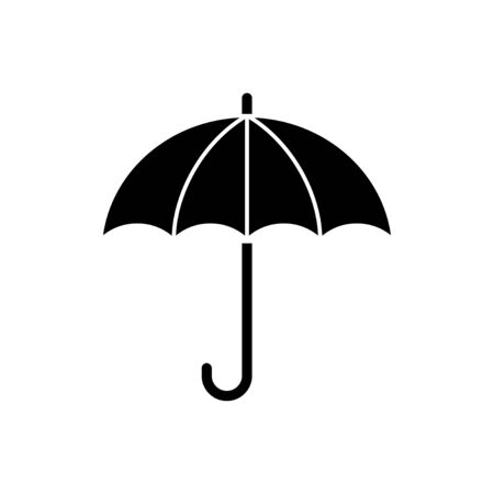 umbrella icon isolated on white background. Umbrella vector icon Vectores