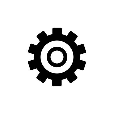 Setting Icon isolated on white background. Setting vector icon. Cog Settings Icon Symbol. Gear
