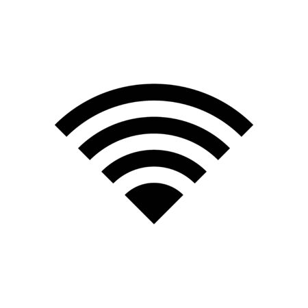 WIFI Icon isolated on white background. signal vector icon. Wireless and wifi icon or sign for remote internet access Vectores