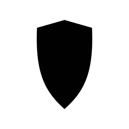 Shield vector icon isolated on white background. Protection icon vector. Security vector icon Vectores